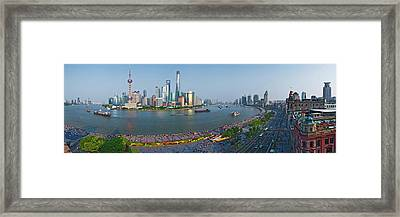 Elevated View Of Skylines, Oriental Framed Print by Panoramic Images