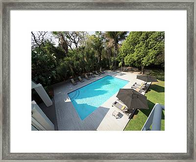 Elevated View Of Swimming Pool At Athol Framed Print