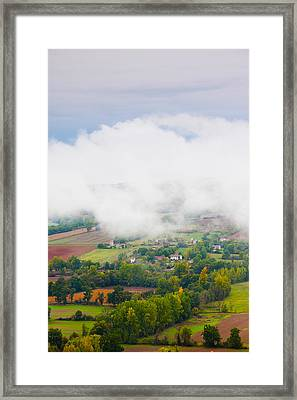 Elevated View Of The Cerou Valley Framed Print