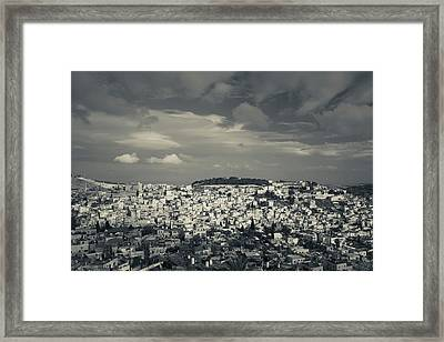 Elevated View Of The City From Mount Framed Print