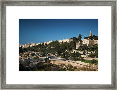 Elevated View Of The City Walls Framed Print