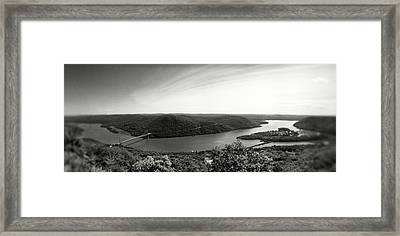 Elevated View Of The Hudson River Framed Print by Panoramic Images