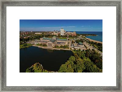 Elevated View Of The Museum Of Science Framed Print
