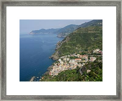 Elevated View Of The Riomaggiore, La Framed Print by Panoramic Images