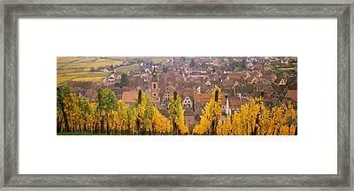 Elevated View Of The Riquewihr Framed Print