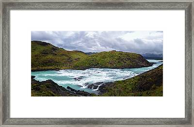 Elevated View Of The Salto Grande Framed Print by Panoramic Images