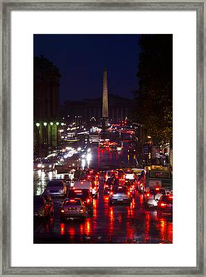 Elevated View Of Traffic On The Road Framed Print by Panoramic Images