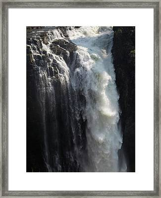 Elevated View Of Waterfall, Devils Framed Print by Panoramic Images