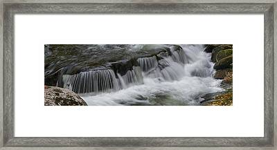 Elevated View Of Waterfall, Middle Framed Print by Panoramic Images