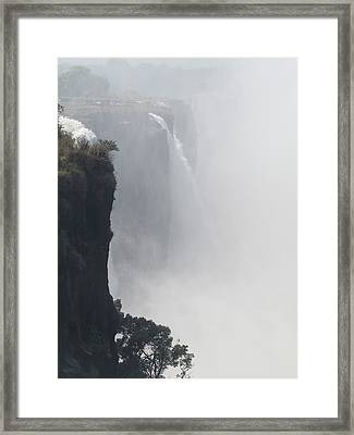 Elevated View Of Waterfall, Victoria Framed Print by Panoramic Images