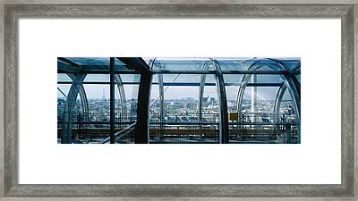Elevated Walkway In A Museum, Pompidou Framed Print by Panoramic Images