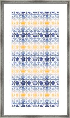 Elevator Door Spring Tones Framed Print