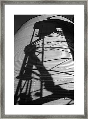 Elevator Shadow Framed Print