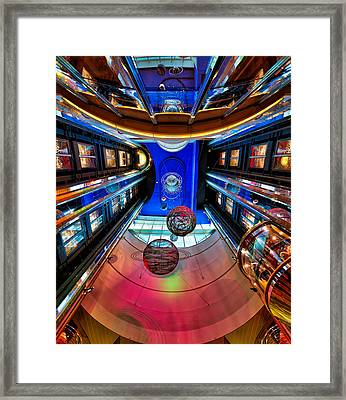 Elevators Aboard The Royal Caribbean Adventures Of The Seas Framed Print