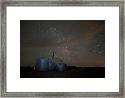 Elevators And Milky Way Framed Print