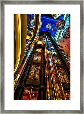 Elevators On The Royal Caribbean Adventures Of The Seas Framed Print