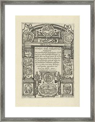 Eleven Medallions With Biblical Scenes, Anonymous Framed Print