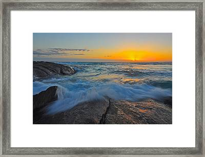 Eleven Mile Framed Print by Sally Nevin
