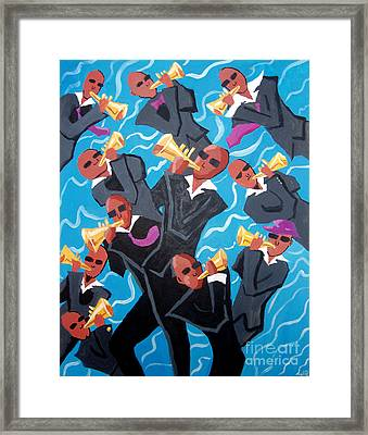Eleven Pipers Piping Framed Print by Whitney Morton