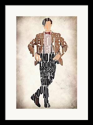 Matt Smith Poster Framed Prints