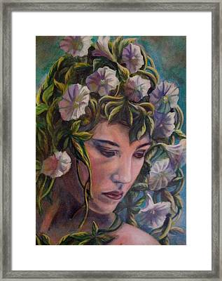 Framed Print featuring the painting Elf Dreams by Suzanne Silvir