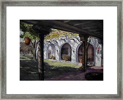 Elfrida Courtyard Framed Print