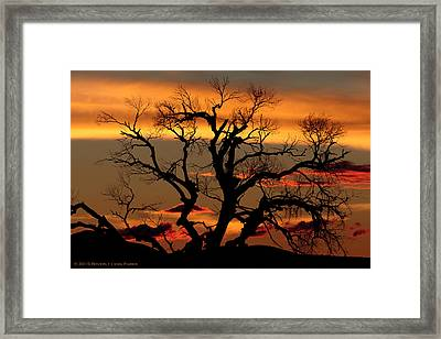 Framed Print featuring the photograph Elgin Sunset by Beverly Parks