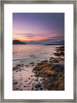 Landscape Wall Art Sunset Isle Of Skye Framed Print