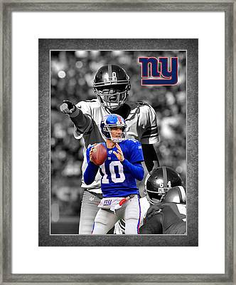 Eli Manning Giants Framed Print by Joe Hamilton