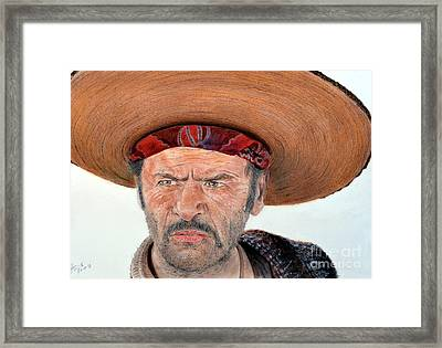 Eli Wallach As Tuco In The Good The Bad And The Ugly Framed Print by Jim Fitzpatrick