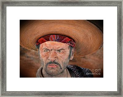 Eli Wallach As Tuco In The Good The Bad And The Ugly Version II Framed Print by Jim Fitzpatrick