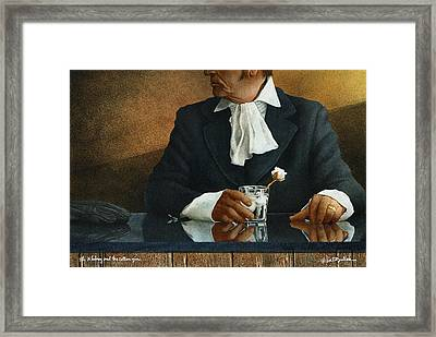 Eli Whitney And The Cotton Gin... Framed Print by Will Bullas