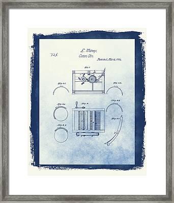 Eli Whitney's Cotton Gin Patent Framed Print