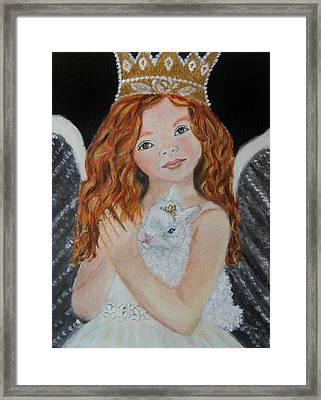 Eliana Little Angel Of Answered Prayers Framed Print by The Art With A Heart By Charlotte Phillips