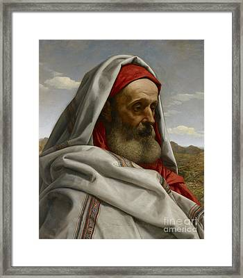 Eliezer Of Damascus Framed Print by William Dyce