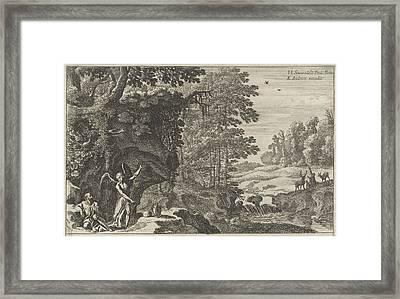 Elijah And The Angel, Herman Van Swanevelt Framed Print by Herman Van Swanevelt And Charles Audran