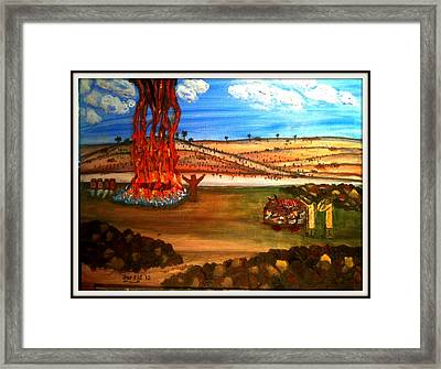 Elijah Calls Down Fire From Heaven Framed Print