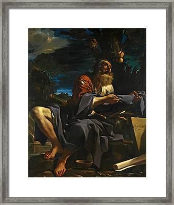 Elijah Fed By Ravens Framed Print