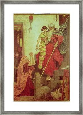 Elijah Restoring The Widows Son, 1868 Framed Print by Ford Madox Brown
