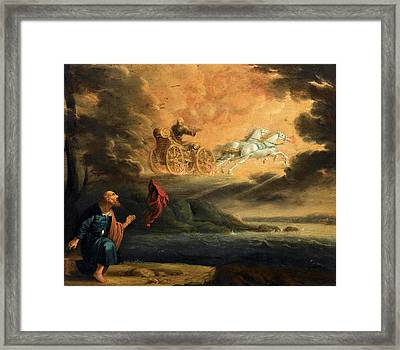 Elijah Taken Up Into Heaven In The Chariot Of Fire Framed Print
