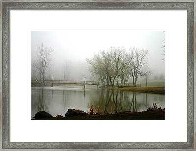 Elim Bible College Pond Lima Ny Framed Print