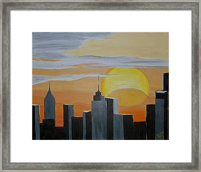 Elipse At Sunrise Framed Print by Donna Blossom
