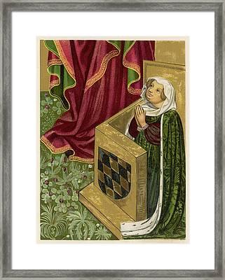 Elisabeth Von Brandenburg Wife Framed Print by Mary Evans Picture Library