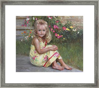 Elise Framed Print by Anna Rose Bain