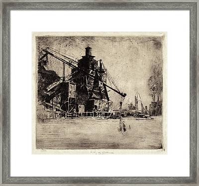 Elisha Kent Kane Wetherill, Otto Coke And Coal Hoist Framed Print by Quint Lox