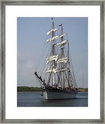 Elissa Tall Ship Framed Print