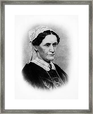 Eliza Mccardle Johnson (1810-1876) Framed Print