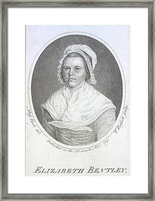Elizabeth Bentley Framed Print by British Library