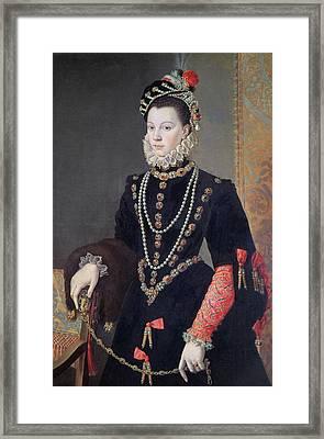 Elizabeth De Valois Framed Print by Alonso Sanchez Coello