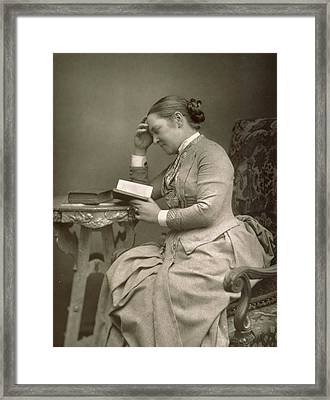 Elizabeth Garrett Anderson Framed Print by Stanislaus Walery
